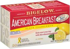 bigelow tea american breakfast with lemon