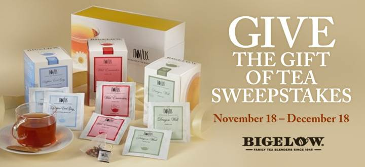 bigelow tea gift of tea sweepstakes