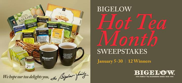 bigelow tea hot tea month sweeps