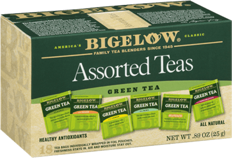 bigelow tea six assorted green teas