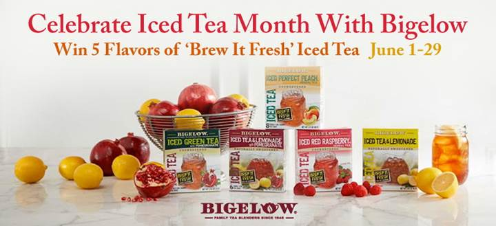 bigelow iced tea month sweep
