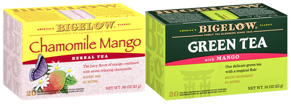 bigelow tea chamomile mango and green tea with mango
