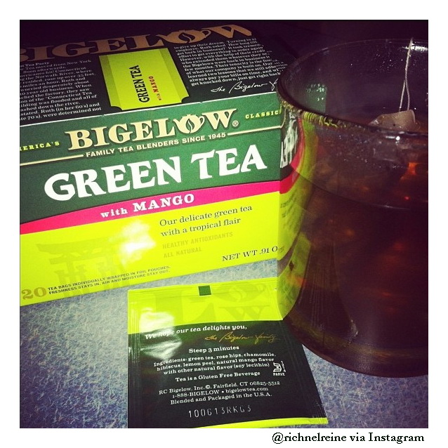 bigelow tea with mango