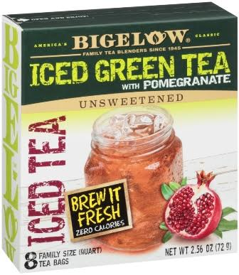 bigelow tea iced tea with pomegranate