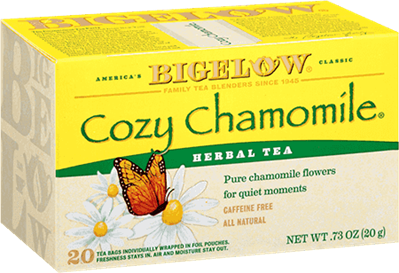 bigelow tea cozy chamomile box