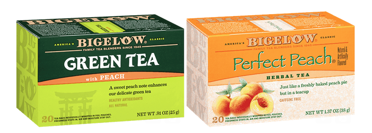 bigelow tea green with peach tea