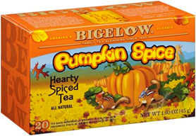 bigelow tea pumpkin psice box