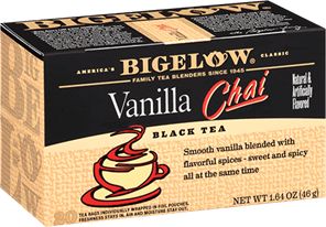 bigelow tea vanilla chai box