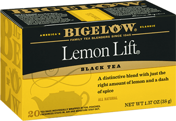 bigelow tea lemon lift box
