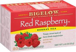 bigelow tea red raspberry box