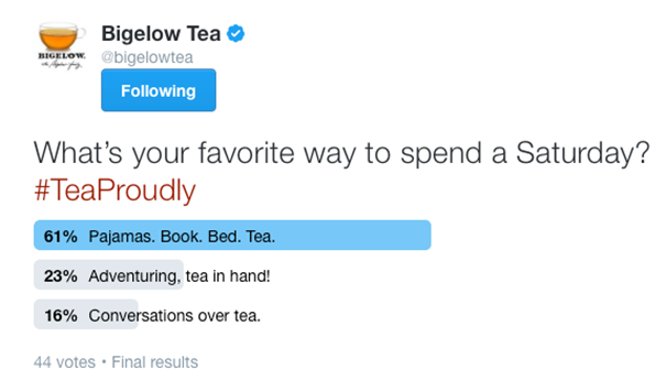 bigelow tea poll