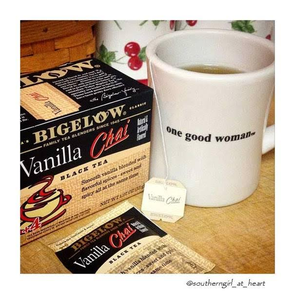 bigelow tea vanilla chai black tea mug