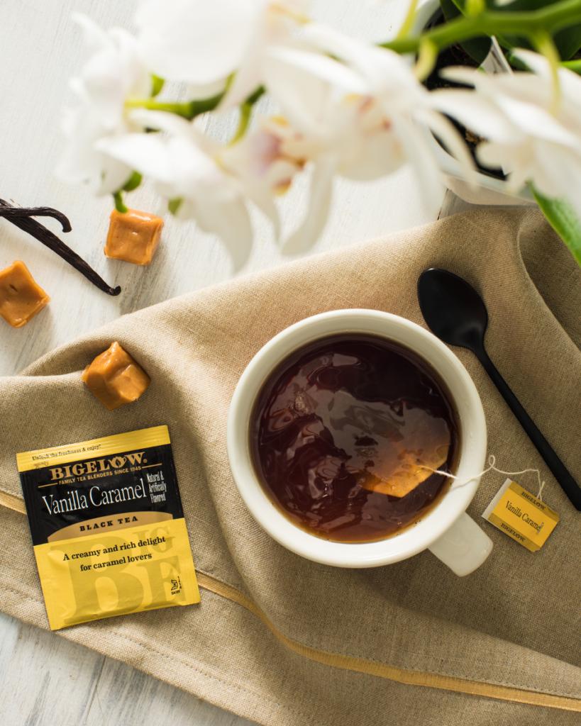 Bigelow Vanilla Caramel Black Tea, no calories